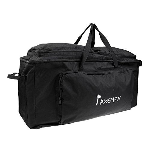 Gazechimp Sporttasche Duffel Bag Wochenende Freizeit Outdoor Sports Tasche - Handliche Reisetasche Schwarz