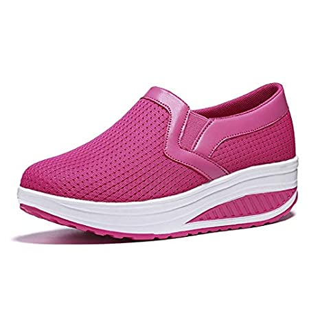 Women Sneakers Wedges Platform Air Mesh Spring Summer Caasual Shoes Female Zapatos Mujer Slip On for