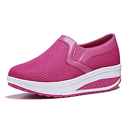 Amazon.com: Women Sneakers Wedges Platform Air Mesh Spring Summer Caasual Shoes Female Zapatos Mujer Slip On for H41: Garden & Outdoor