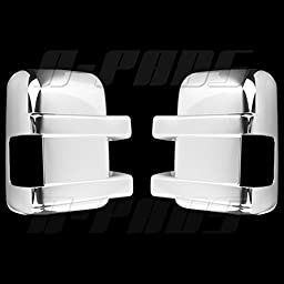 A-PADS 2 Chrome Telescoptic Mirror Covers, WITH Signal Cut-out For Ford F-250 & F-350 Super Duty 2008-2014 - WITH Turn Light Cutout