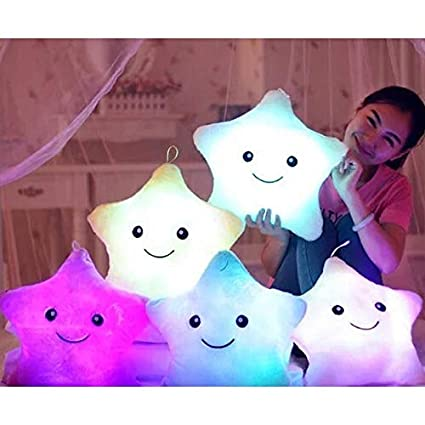 Amazon.com: Led Star Luminous Stuffed Pillow | Cute Soft ...