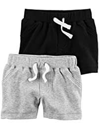 Carter's Baby Boys' 2 Pack Solid Shorts