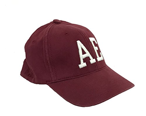 18e3b86ebf2c6 American Eagle Outfitters Deep Red w  White AE Logo Baseball Cap S M - Buy  Online in Oman.