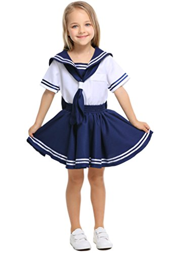 Joygown Girl's Cute Sailor Halloween Party Dressing Up Costume Cosplay M -