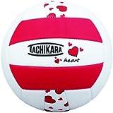 Tachikara Sof-Tec Heart Indoor/Outdoor Volleyball (Red/Black/White)