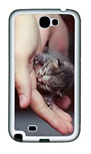 covers on sale cute little kitten TPU White case/cover for samsung galaxy N7100/2