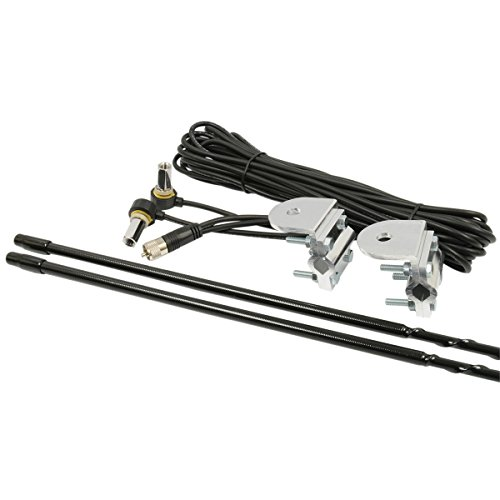 RoadPro RPPS-24KB Platinum Series Black 4' 1000W Dual Mirror Mount CB Antenna Kit