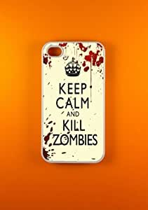 Zombied Iphone Case, Keep Calm Kill Zombies Iphone 4 Case, Iphone 4s case