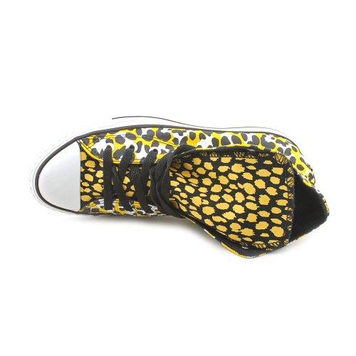 308440 para mujer de tela 15 talla Converse Zapatillas Leopard 36 color amarillo 50 dqpwWY1