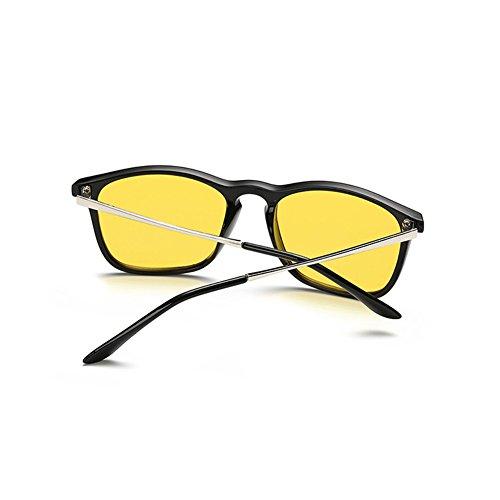 Unisex Lunettes Carré Unisex Goggles Homme Femme Anti Lumière Bleue Lunettes à Verres Transparents Mode à Armature Métallique Eyewear pour Travailler/Gaming/Lecture Hibote Color #3