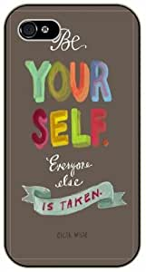 iPhone 6 Be yourself, everyone else is taken - Oscar Wilde - black plastic case / Life and dreamer's quotes