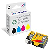 HOTCOLOR 2-Pack #10XL (1 Color and 1 Black) Compatible for Kodak 10B 10C Compatible Ink Cartridges for EasyShare 5100 5300 5500 Kodak ESP 3 3250 5 5210 5250 6150 7 7250 9 9250