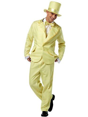 Rasta Imposta 70s Funky Fun Tuxedo, Yellow, Adult Large (Funky Tuxedo Adult Men Costume)