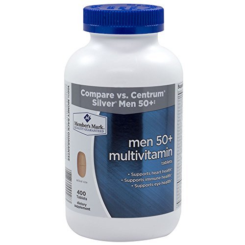 Member's Mark - Men 50+ Multivitamin, 400 Tablets (Compare to Centrum) (Best Vitamins For 50 Year Old Man)