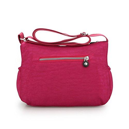 à Imperméable Fermeture Décontractée Sac Yujeet Multi Pink éclair Poches d'épaule Sac Femme Bandoulière nYgzqxF8g