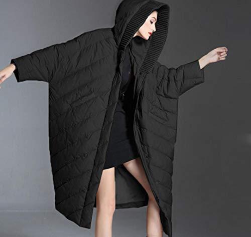 Lungo Acvxz Da 3xl Imbottito Piumino Nero Con Invernale colore Giallo In Donna Dimensioni qYqwPr5
