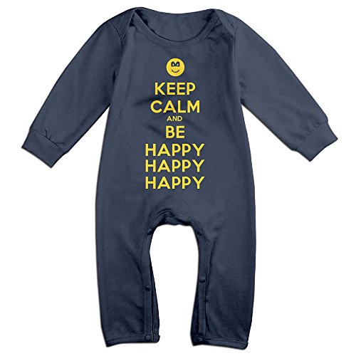 Baby Girls Boys Keep Calm And Be Happy Long Sleeve Romper Jumpsuit 18 Months (Stop Sign Toddler Costume)