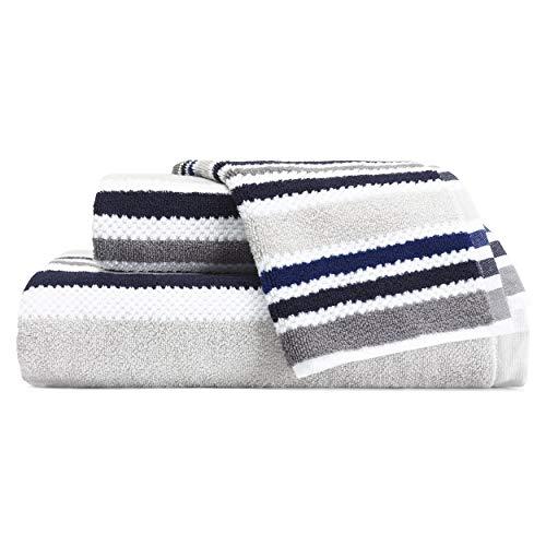 Nautica Jules Towel Set, 3 Piece, Grey