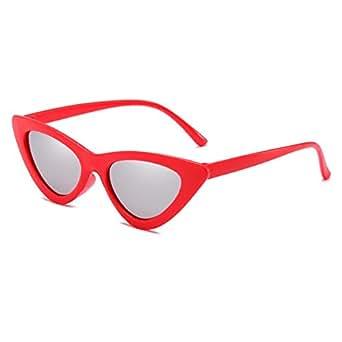 hibote Retro Cat Eye Sunglasses Pequeño Marco Triángulo Vintage Sombras UV400 C1