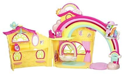 Amazon Com My Little Pony Ponyville Rainbow Dash House Toys Games
