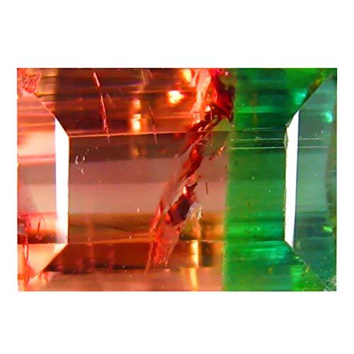2.50 ct OCTAGON SHAPE (9 x 6 mm) BRAZILIAN BI-COLOR WATERMELON TOURMALINE NATURAL LOOSE - Gem Tourmaline Color Bi