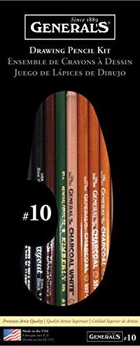 General Pencil Drawing Pencil Kit, 12-Piece (10)