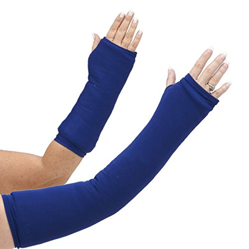 CastCoverz! Designer Arm Cast Cover - Navy - Large Long: 23'' Length X 16'' Circumference - Removable and Washable - Made in USA