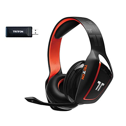 TRITTON ARK 200 Wireless Bluetooth Gaming Headset with USB Audio Adapter and LED Lights Compatible for PC, Mac, PS4, PS3