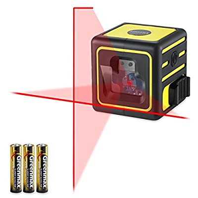 Firecore Mini Laser Level Self-Leveling Cross-Line, Red (batteries included)