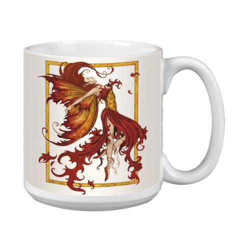 (Tree-Free Greetings XM27547 Amy Brown Artful Jumbo Mug, 20-Ounce, Fantasy Fire Dance Fairy)