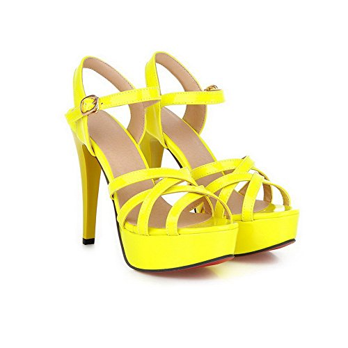 Oversized Heels Urethane Yellow High Lining DIU00809 Sandals Cold AN Womens wqB677