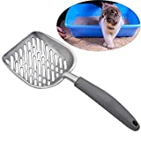 JUMOWA Cat Litter Scoop, All Metal End-to-End with Solid Core, Sifter with Deep Shovel, Anti-Scatter Sides, Multi-Cat Tested Accept No Substitute for The Original