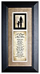 Are you looking for a great keepsake gift for your mother or stepmother?  ❤ James Lawrence' A Prayer for Mom Wood Framed Quote makes a great gift!. ❶ Framed Art featuring heartfelt poetry that brings words of comfort and appreciation to the o...