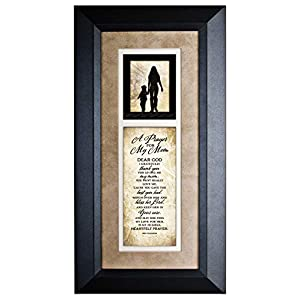 Dexsa A Prayer for My Mom Wood Wall Art Frame Plaque | 8 inches x 16 inches | Hanger for Hanging | Dear God I Gratefully…