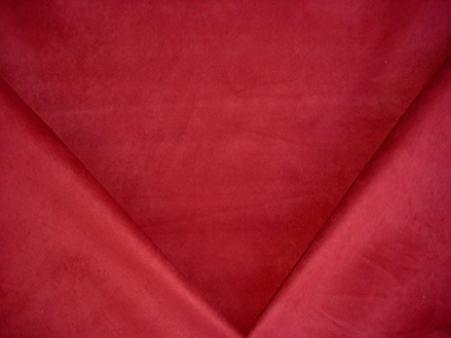 JLA Unisuede in Berry - Lined Faux Suede Leatherette Designer Microfiber Upholstery Drapery Fabric - By the Yard