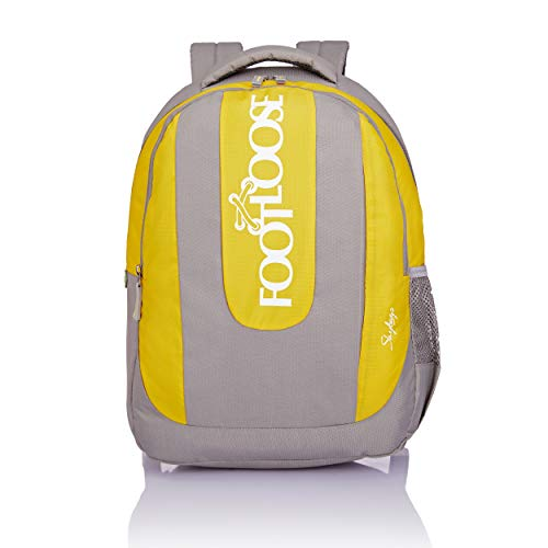 Skybags Vein Plus 24 Ltrs Grey and Yellow Laptop Backpack (LPBPVNPEGYW)