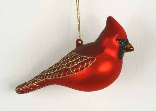 Northern Cardinal Glass Ornament (Bird Seed Christmas Ornaments)