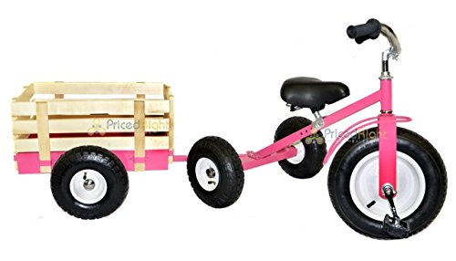All Terrain Tricycle with Wagon (Pink), #CART-042P by Valley (Image #2)