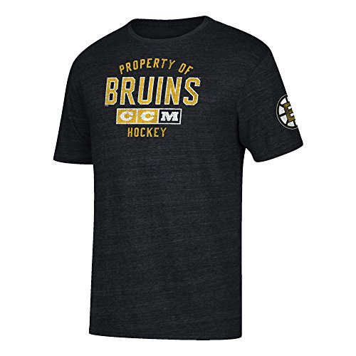 Nhl Boston Bruins Team Property Tri Blend Short Sleeve Tee  Large  Black Heather
