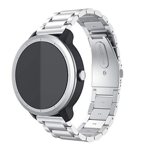 Anrir Compatible for Garmin Vivoactive 3 Watch Band, 20mm Stainless Steel Watch Strap for Garmin Forerunner 645/Forerunner 245/Samsung Galaxy Watch 42mm/ Galaxy Watch Active 40mm Smat Watch - Silver