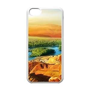 Desert Scenery Custom Case for Iphone 5C, Personalized Desert Scenery Case by lolosakes