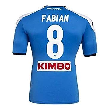 SSC-NAPOLI-Fabian-Home-20192020-Camiseta-de-competicion-Unisex-Adulto
