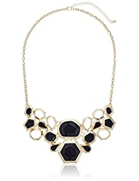 """Kensie Faceted Resin Stone Statement Necklace, 18"""" + 3"""" Extender"""