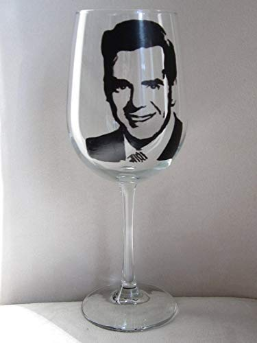 Set of 4 Hand Painted Wine Glass I LOVE LUCY