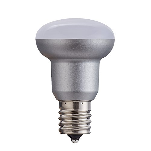 Vivid Plus Led - BR14 Silver LED Bulb,3W ,5000K Daylight White,CRI80+ ,120 Degree Beam Angle, candelabra Base E17,Not-Dimmable, Flood Light Bulb for ceiling fan and other indoor decorative light