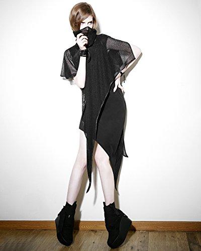 Punk Rave - Robe - Sans Manche - Femme Noir Noir