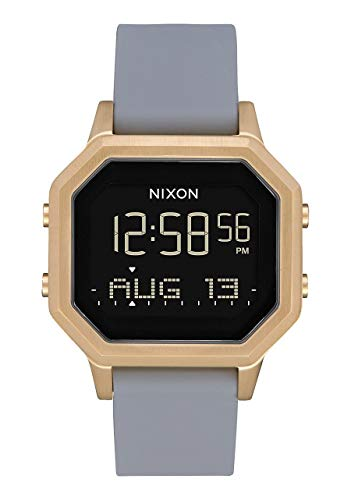 Nixon Women's Siren SS Digital Watch Light Gold Gray 36mm