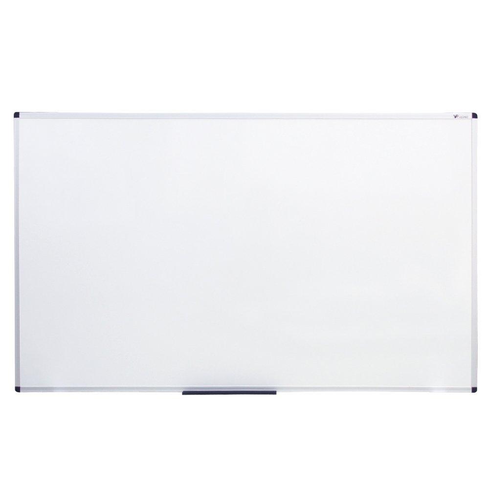 VIZ-PRO Dry Erase Board, Melamine, 60'' L x 36'' W, Silver Aluminum Frame by VIZ-PRO