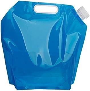 8m Plegable bidón de agua bote camping litros recipiente de agua de beber transparente exterior 5L