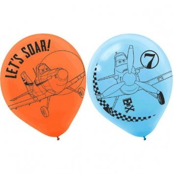 Amscan DisneyPlanes 2 Birthday Party Printed Balloons Decoration, 12